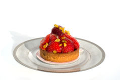 乳酪蛋糕新鲜的草莓 免版税图库摄影