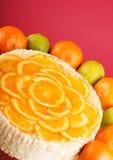 乳酪蛋糕桔子 图库摄影