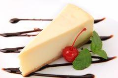 乳酪蛋糕樱桃香草 库存照片