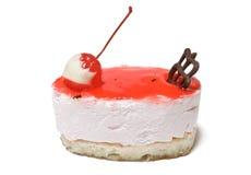 乳酪蛋糕樱桃 免版税图库摄影