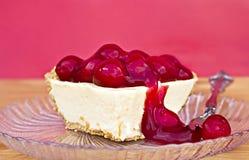 乳酪蛋糕樱桃 库存照片