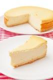 乳酪蛋糕片式 库存图片