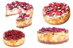 乳酪蛋糕用莓。拼贴画,汇集 库存照片