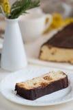 乳酪蛋糕用葡萄干 免版税库存图片