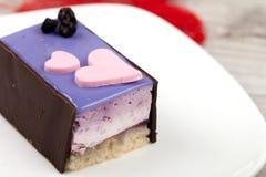 乳酪蛋糕用蓝莓 图库摄影
