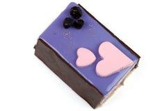 乳酪蛋糕用蓝莓 免版税库存照片