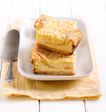 乳酪蛋糕碎屑顶部酒吧 免版税图库摄影