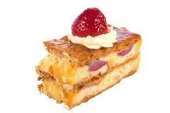 乳酪蛋糕草莓 库存照片