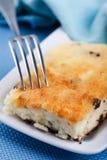 乳酪蛋糕葡萄干 图库摄影