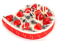 乳酪蛋糕蛋糕用莓果 免版税库存图片