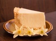 乳酪蛋糕部分 图库摄影