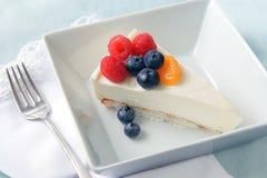 乳酪蛋糕酸奶 库存图片
