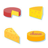 乳酪象汇集 库存图片