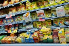 乳酪走道 免版税库存照片