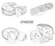 乳酪集合 免版税图库摄影