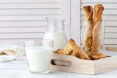 乳酪面包 自创低贱面包棒 免版税库存图片