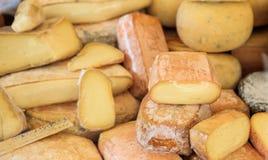 乳酪整个背景的各种各样的类型 库存图片