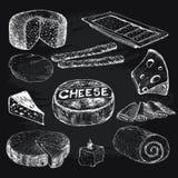 乳酪 图表例证的汇集 库存图片
