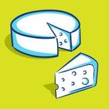 乳酪-蓝色系列 免版税库存图片