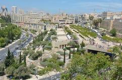 乳头商城在耶路撒冷-以色列 免版税库存照片