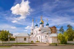了不起的乔治Pobedonostsa的寺庙在Dedovske 库存图片