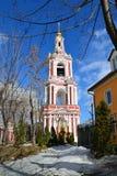 了不起的受难者Nikita的寺庙在Staraya Basmannaya街,莫斯科,俄罗斯上的 免版税图库摄影