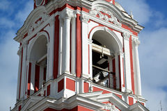 了不起的受难者Nikita的寺庙在Staraya Basmannaya街,莫斯科,俄罗斯上的 库存图片