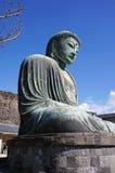 了不起的菩萨(Daibutsu)镰仓,日本 库存照片