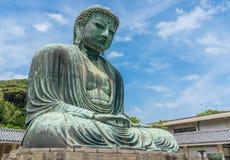 了不起的菩萨Daibutsu在镰仓日本 免版税库存照片