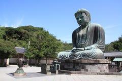 了不起的菩萨Kotoku在寺庙 库存照片