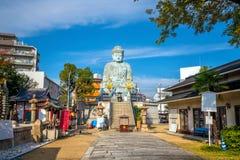 了不起的菩萨Nofukuji寺庙的兵库Daibutsu在神户 库存照片