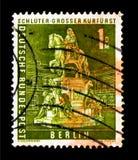 了不起的选举人,柏林都市风景serie雕象,大约1956年 免版税库存图片