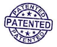 给予专利的邮票陈列登记的专利或商标 库存图片
