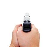 争取一把现代自动手枪的二个现有量 库存照片