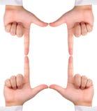 争取创建了四个框架现有量符号 免版税库存图片