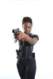 争取枪妇女 免版税库存图片