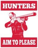 争取猎人步枪猎枪 向量例证