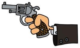 争取beretta枪现有量离析了准备好的射击样式武器白色 库存例证