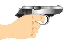 争取beretta枪现有量离析了准备好的射击样式武器白色 皇族释放例证
