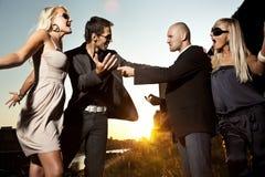 争吵的夫妇 免版税库存照片