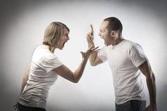 争吵的夫妇 库存图片