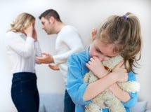 争吵的父母 免版税图库摄影