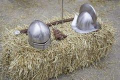 争斗中世纪盔甲 免版税库存图片