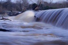 争斗公园岩石登上北卡罗来纳水坝站点 库存图片