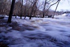 争斗公园岩石登上北卡罗来纳水坝站点 免版税库存照片