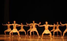 争斗列阵黑天使现代舞蹈舞蹈动作设计者亨利Yu 库存照片