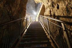 争斗前个megiddo揭示隧道 免版税库存照片