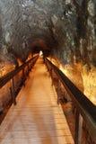 争斗前个megiddo揭示隧道 库存图片