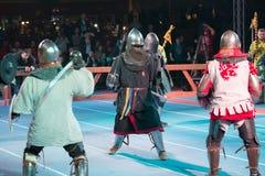 争斗在竞技场开始了 免版税图库摄影