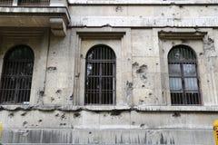 争斗损坏的大厦 免版税库存图片